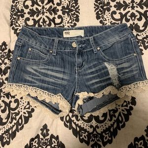 RSQ Jean Shorts with Lace
